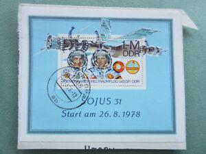 Sonderbriefmarke - Briefmarke Sojus 31 - Start am 26.08.1978 -