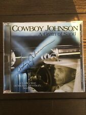 "Louis Cowboy Johnson A Grain Of Sand ""Rare"" Autograph CD Mickey Newbury Songs"