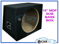 "15"" pollici 38 cm SINGLE SIGILLATA NERO MOQUETTE AUTO FURGONE SUB WOOFER BOX IN MDF Bass Boom"
