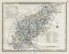 "Pass Map - 1828 - ""NORTHAMPTONSHIRE"" - Copper Engraving"