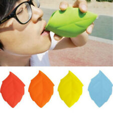 Soft Silicone Leaf Shape Water Drinking Pocket Cup liquid Container Water Mugs B