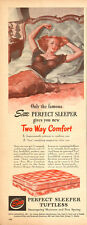 1946 vintage AD SERTA Perfect Sleeper Tuftless Mattress Pinup gal in bed  121815
