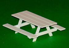 O Scale (1/48) White Picnic Table for Plasticville and Lionel O & 027