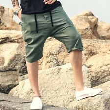 Men Summer Slim Drop Crotch Loose Casual Shorts Cropped Trousers Capri Pants NEW