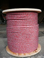 "NovaTech Argus Double Braid Spectra Sheet Halyard Line 5/16"" x 50' Red/Silver"