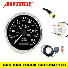 Autool 85mm GPS Speedometer Digital Speedo Guage Stainless MPH/KMH For Car Truck