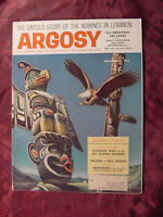 ARGOSY November 1958 Nov 58 KLONDIKE ALASKA AMERICAN EAGLE JOHN HUSTON