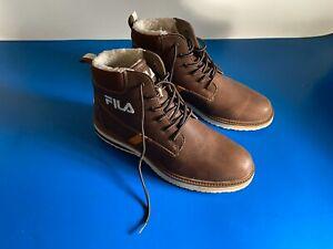 Fila Men's Lace-up Boots Brown UK Size 10 /EUR 44/ USA 10 1/2