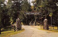 Spruce Creek Pennsylvania~Camp Kanesatake~Main Gate~Rock Steps~1950s Postcard