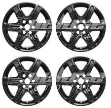 "17"" Black Wheel Skins / Hubcaps (4 PCS) FOR  2017 2018 GMC Acadia SL / SLE"