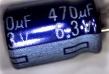 200 Panasonic 470uf 6.3 V Condensatori Elettrolitici su