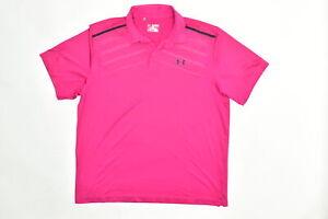 Under Armour Men's Adult Size 2XL Polo Heatgear Pink