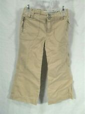 Girls size 2T Old Navy khaki tan pants adjustable waist