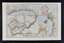 1887 Andrees Map - Colonia French West Africa Cameroon Benin Biafra Congo River
