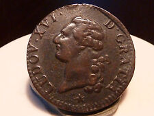 7CL(79) - LOUIS XVI - SOL A L'ECU - 1790 W - QUALITE TTB++ !