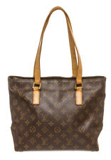 Authentic Louis Vuitton LV Monogram Cabas Piano Shoulder Bag Purse Tote Brown