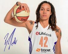 Brittney Griner Phoenix Mercury Signed 8x10 Photo Lom Coa (Ph1682)