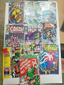 Random Lot Of 11 DC & MARVEL Comics Demon Spiderman, Green Lantern, Hulk & More