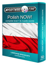 LEARN SPEAK POLISH NOW! COMPLETE LEVEL 1 2 AUDIO LANGUAGE COURSE MP3 CD GIFT NEW
