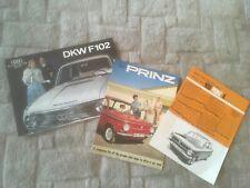 NSU PRINZ & DKW F102.  BROCHURES x 3