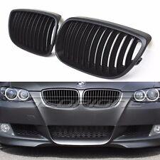 06-09 BMW E92 E93 M3 Coupe  Matte Black Front Bumper Kidney Sport Grille Grill