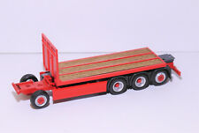 1:87 EM3754 4achs Fahrgestell mit Pritsche Echtholz rot für Herpa Umbau Eigenbau