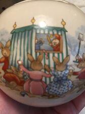 Rare Royal Doulton Round Globe Ball Bank Bunnykins The puppet show