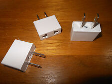 3 New European To American Plug Adapters In White 250V 10A