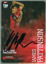 ✺Signed✺ 2014 2015 MELBOURNE RENEGADES Cricket Card JAMES PATTINSON Big Bash