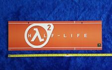 """Half-Life 2 Video Game Store Display Ceiling Sign 2004 X-Box Advertising 6""""x19"""""""