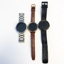 (Lot of 3) **AS-IS READ ** Motorola Moto 360 Smart Watches 316L