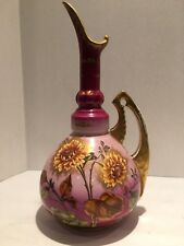 Antique English Hand Painted Porcelain  Ewer