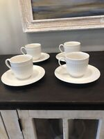 MIKASA Italian Countryside DD 900  Set of 4 coffee tea Cups and 4 Saucers