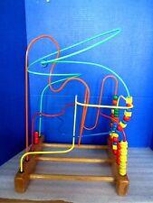 EDUCO~The ORIGINAL SUPERMAZE ED184~Wooden Bead Roller Activity Toy