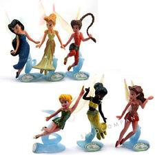 6 Disney Fairies Secret of the Wings Tinker Bell Figure Peter Pan Toys Gift M204