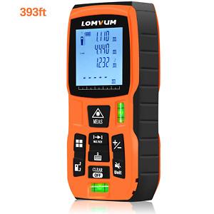 LOMVUM 120m Laser Measure, 393ft Digital Laser Distance Meter with Mute Function