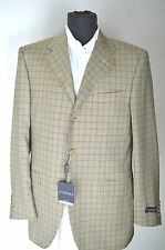 NEW CANALI Sport Coat Jacket Blazer 100% Virgin Wool Size 38 R Us 48 R Eu 3BTN