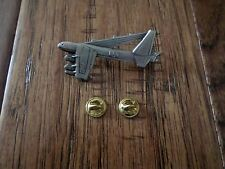 U.S Military B-52 Stratofortress Bomber Plane Hat Pin Badge Double Clutch Back