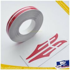 FM US! Red 12mm PIN STRIPE PinStriping Double TAPE Decal Vinyl Sticker