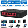 SG105M 5-Port Desktop Gigabit Switch Ethernet Network Switcher LAN Hub Splitter