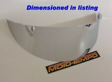 CHROME METAL HEADLIGHT PEAK VISOR 5 3/4 160mm BATES STYLE UNIVERSAL