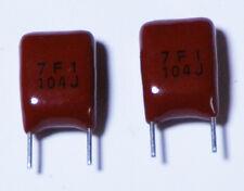 .1 uF - .1uF Plastic Film Capacitor Universal (Radial) - 15 each