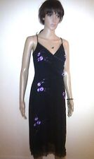OASIS Long Black Evening Dress. Formal / Casual Cocktail Party, Wedding. SIZE 12