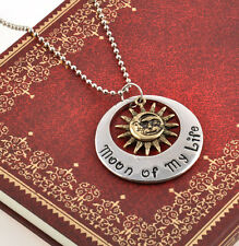 """Retro Vintage""""Game of Thrones""""Khal & Khaleesi Moon of My Life  Necklace Hot New"""