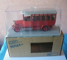 CEF REPLEX 114 FRANCE 1/40 BUS MAGIRUS DEUTZ 2C V110 ROUGE TOIT GRIS TBE BOITE