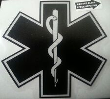 "Star of Life, Black, Reflective Decal, 3.8""w x 4""h  #EM26"
