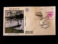 MONACO PREMIER JOUR FDC YVERT  1514+1516     BATEAUX       2+0,90F       1986