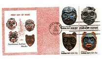 1834-37 Indian Masks Colonial block of 4  FDC