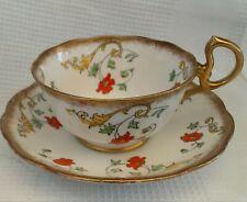 Hand Painted Antique Royal Albert Crown Teacup & Saucer Set