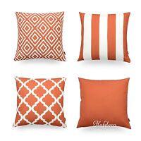 Hofdeco Decorative Cushion Cover Burnt Orange Geometric Cushion Sofa Car Outdoor